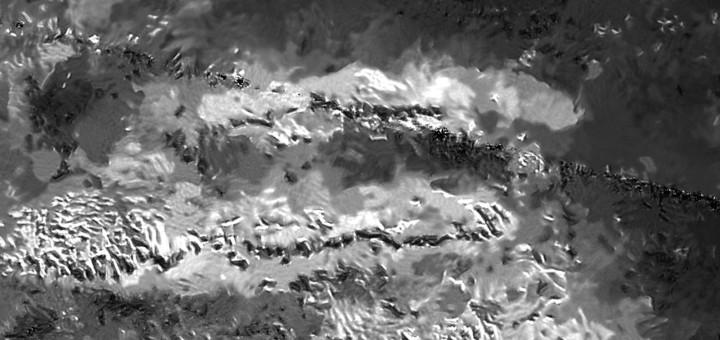 Трио горных хребтов Mithrim Montes на Титане.  Credits: NASA/JPL-Caltech/ASI