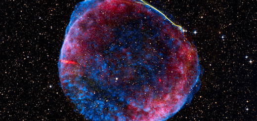 A supernova remnant about 7,000 light years from Earth.