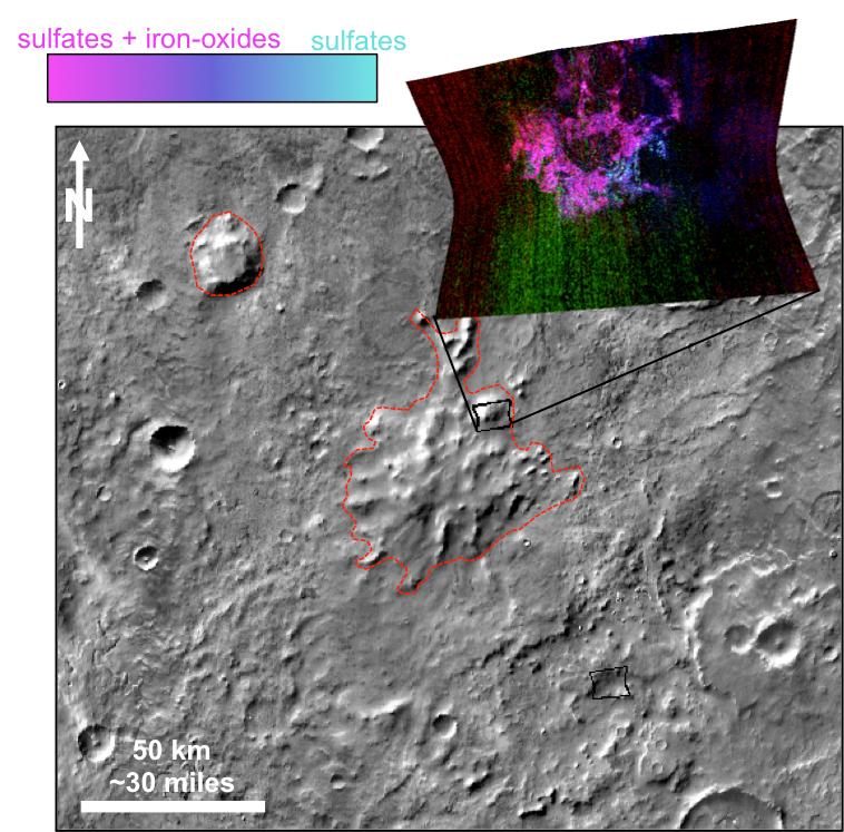 Ученые отыскали древнейшие вулканы наМарсе