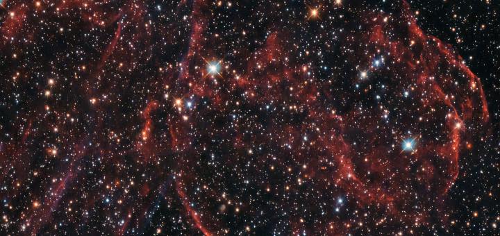 Остатки давно умершей звезды. Credit: ESA/Hubble & NASA, Y. Chu
