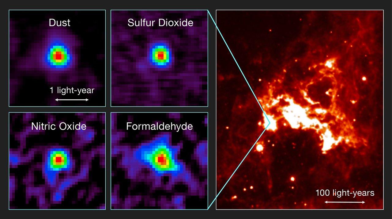 Звездный кокон с незаурядным составом элементов обнаружили вгалактике огромное Магеалланово Облако