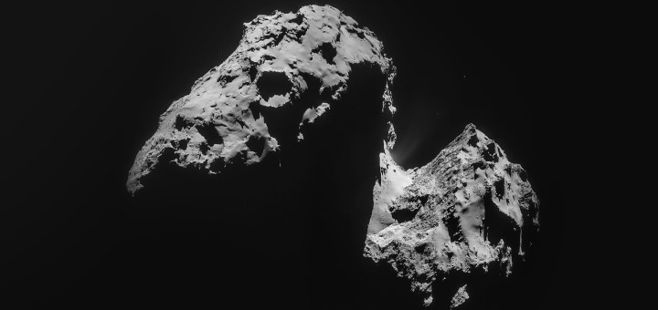 Комета  67P/Чурюмова-Герасименко. Credit: ESA