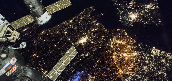 Фотография Западной Европы с борта Международной космической станции. Image Credit: NASA