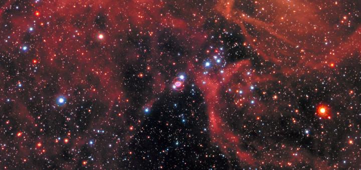 Сверхновая SN1987А в телескоп «Hubble». Credits: NASA, ESA