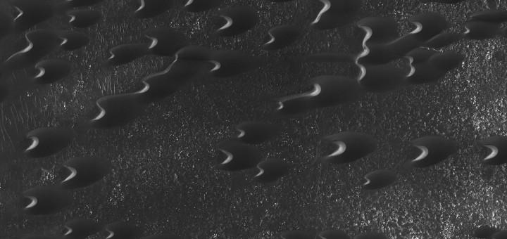Дюны южного нагорья на Марсе. Image credit: NASA/JPL-Caltech/Univ. of Arizona