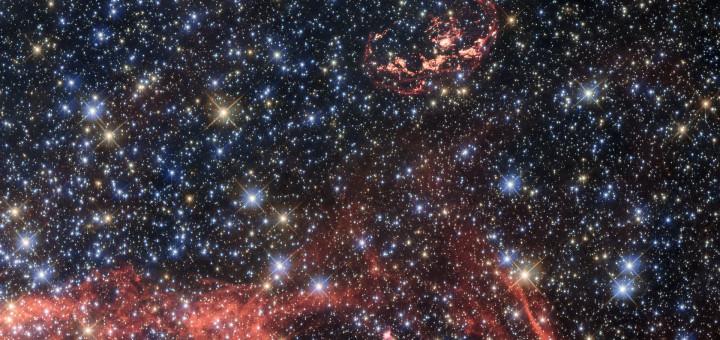 Остаток сверхновой N103B. Credit: ESA/Hubble, NASA