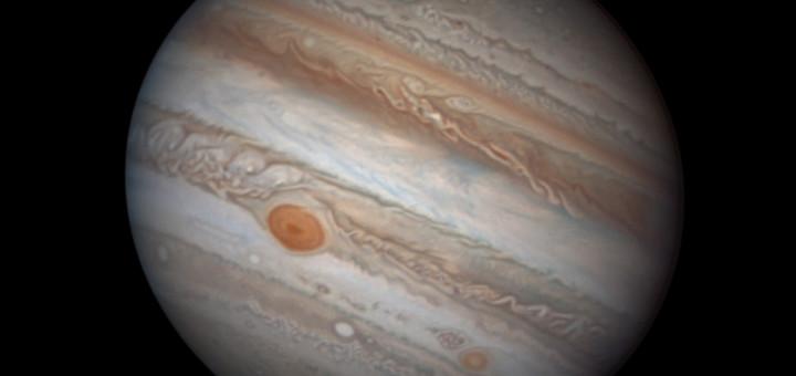 Снимок Юпитера, полученный 25 февраля 2017 года. Credit: D. Peach/ Chilescope team