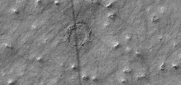 Снимок слоистых отложений в южной полярной области Марса. NASA/JPL-Caltech/Univ. of Arizona