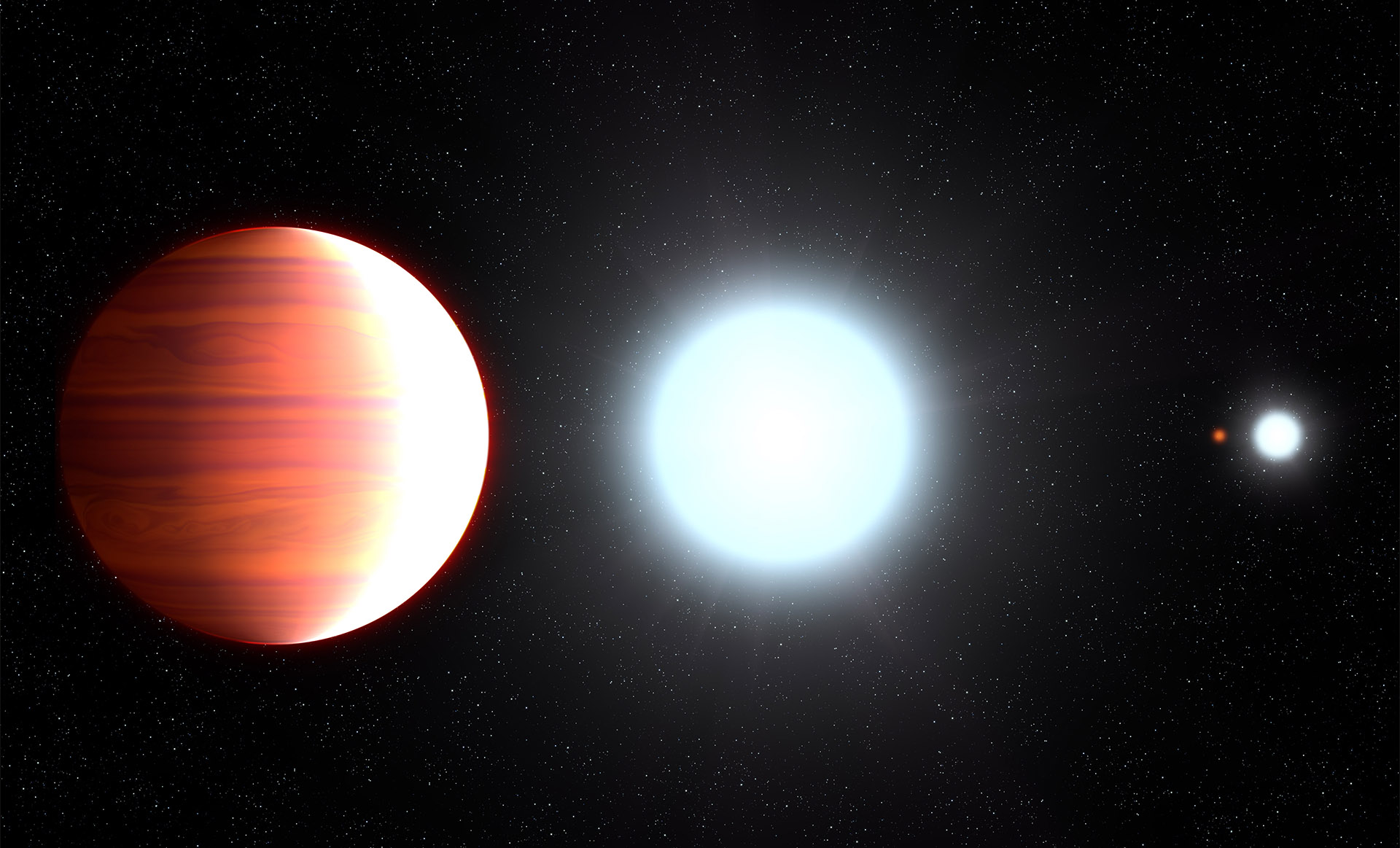 Ученые: На «горячем Юпитере» Kepler-13A bидет снег изтитана