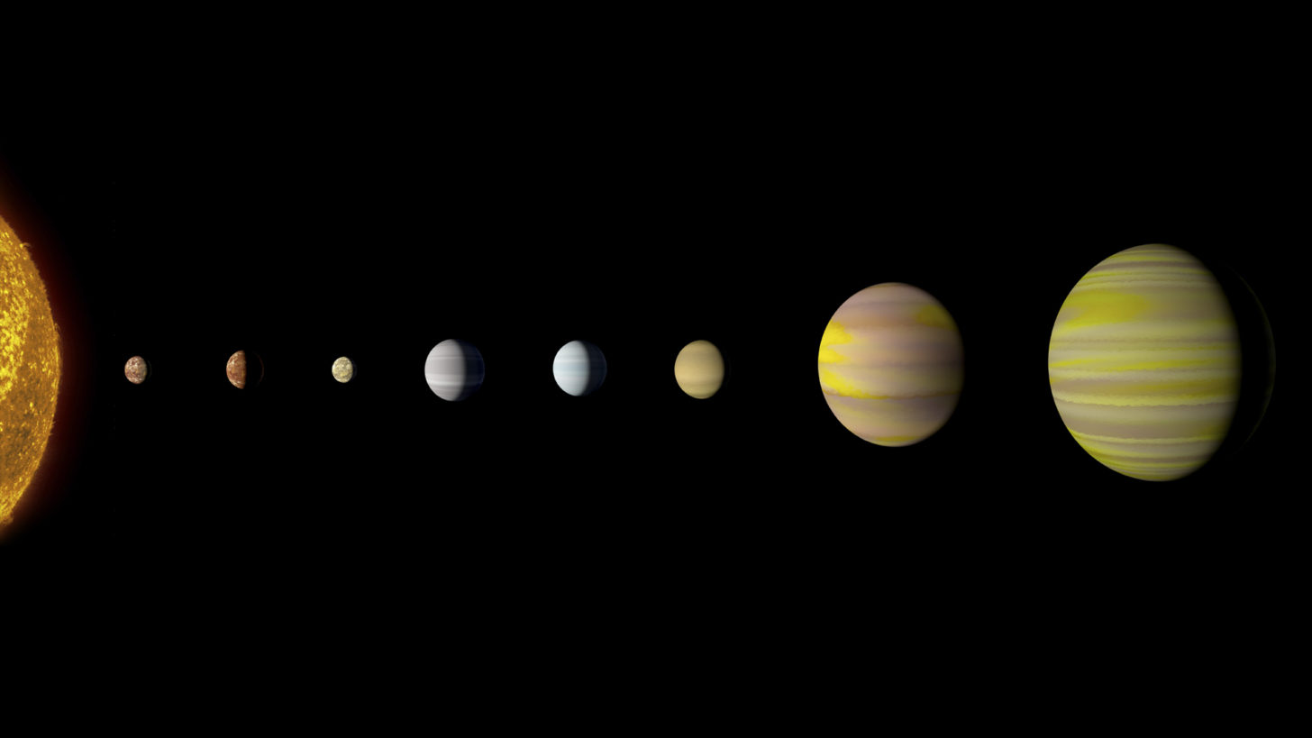 artists concept our solar system solar system - HD1456×819