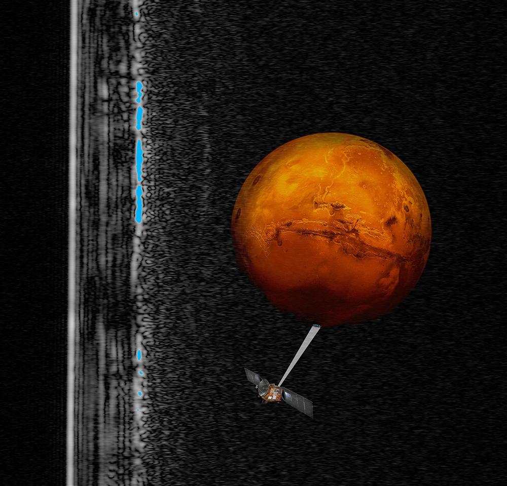 НаМарсе обнаружено озеро сжидкой водой
