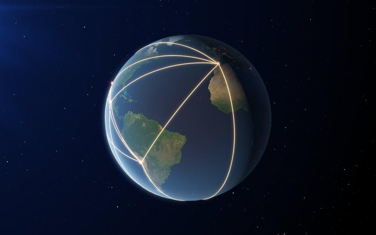 Расположение радиотелескопов глобальной сети. Credit: ESO
