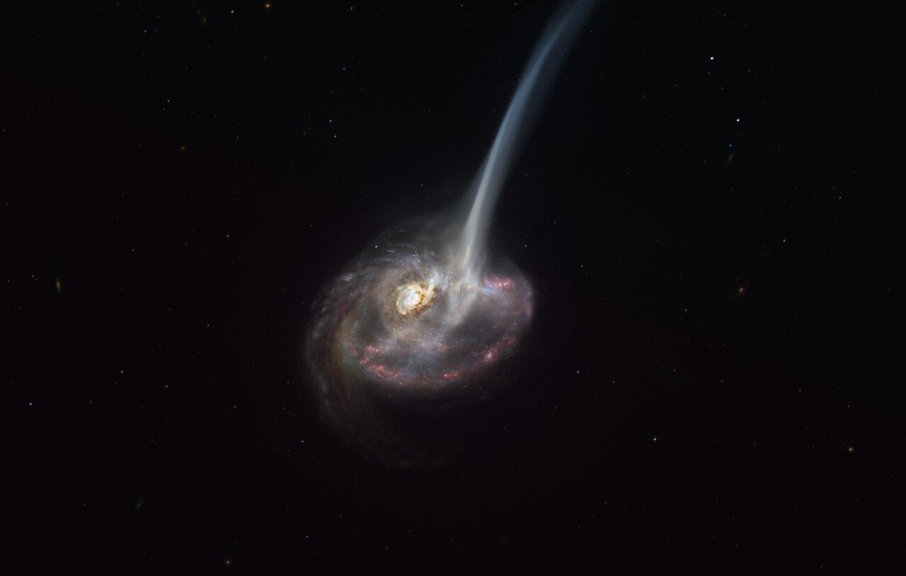 Астрономи зафіксували початок загибелі дуже далекої галактики